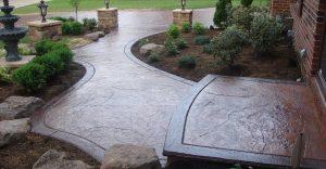 Decorative concrete flatwork installation in Johnson City, Tennessee